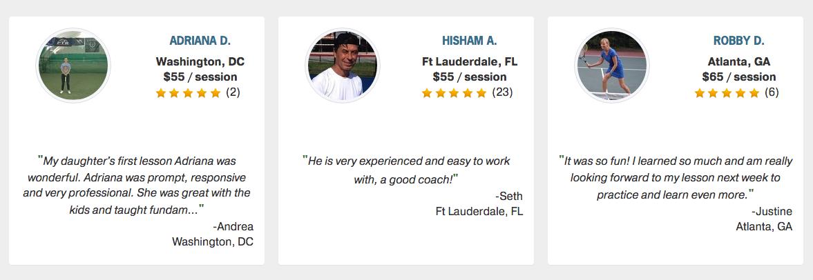 tennis coach reviews