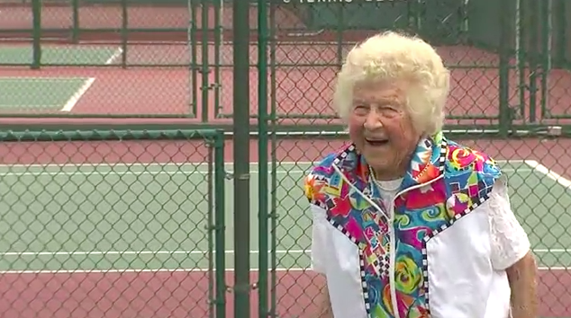 Video: The Best 95-Year-Old Tennis Player On The Planet (In Memory Of)