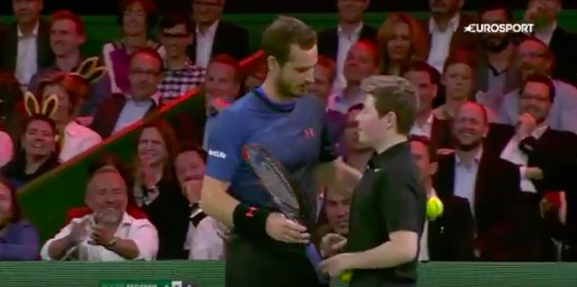 Andy Murray Lets Ball Boy Play Match Point Against Federer