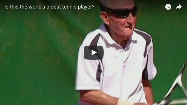 [Video] The World's Oldest Tennis Player Will Make You Feel Young and Lazy