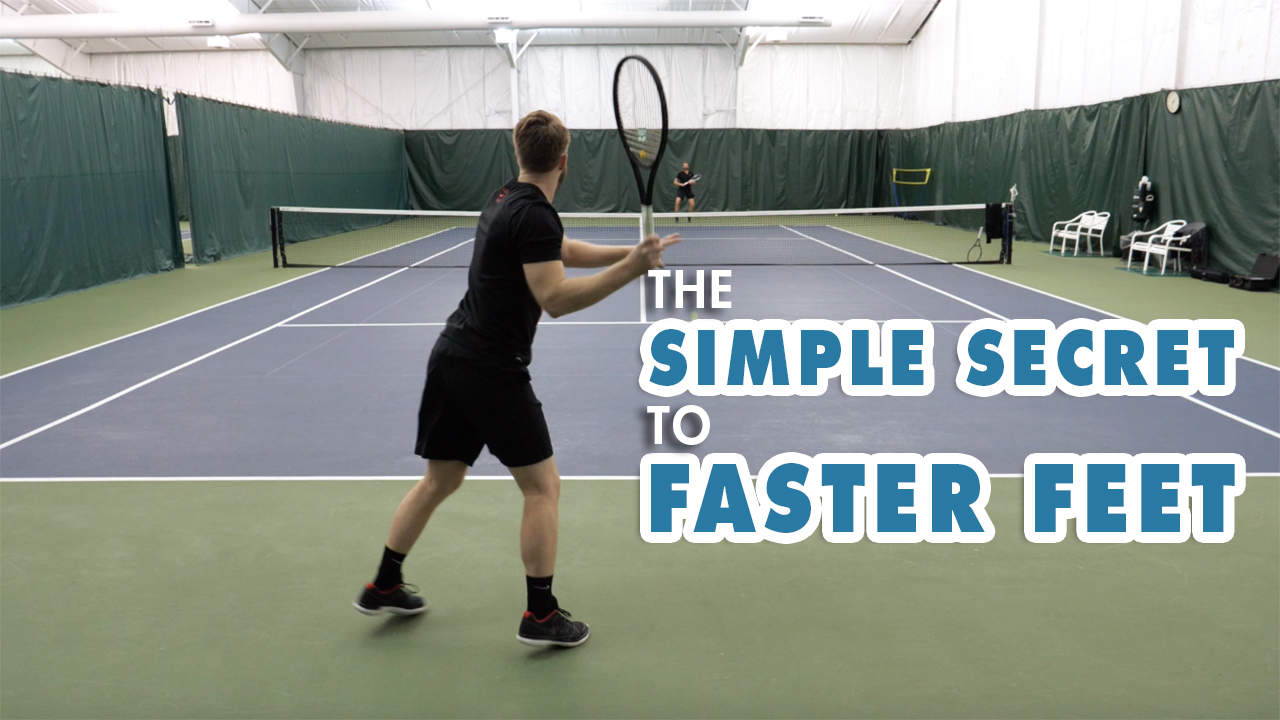 "SIMPLE Tennis Footwork Drill For FASTER Feet - The ""Split Step"""