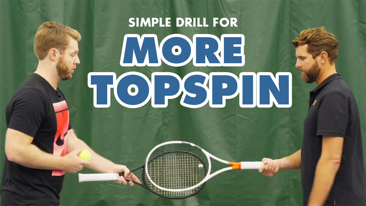 Simple Tennis Drill for More Top Spin