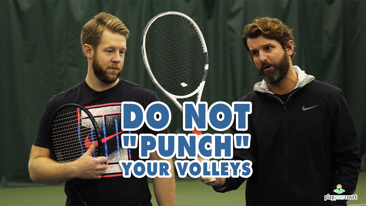DO NOT punch your volleys, DO THIS Instead