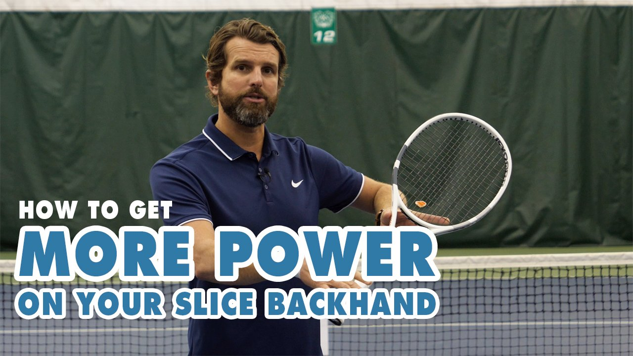 How to get more POWER on your SLICE BACKHAND