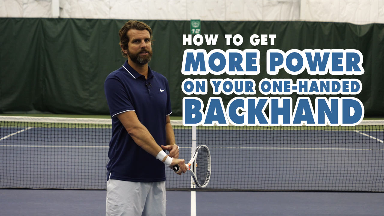 How To Get More POWER on Your One-Handed Backhand