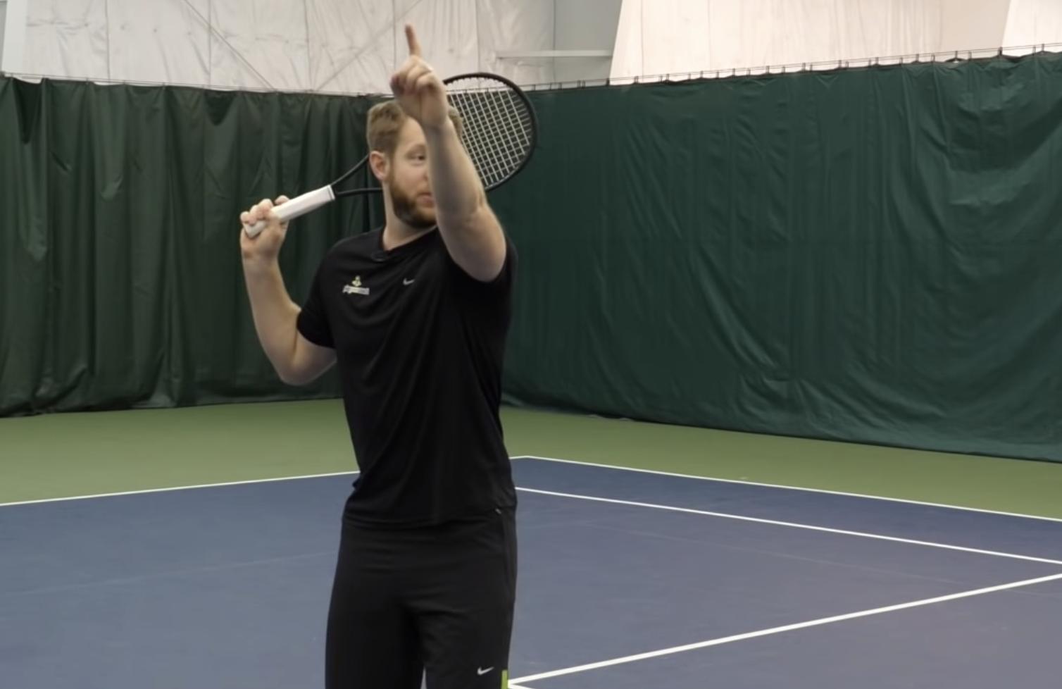 Tennis overhead swing
