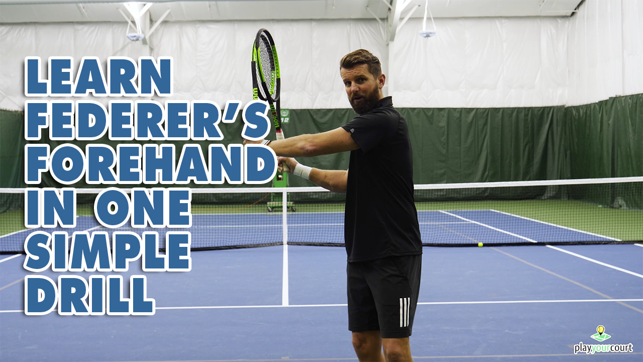 Learn Federer's Forehand In ONE Simple Drill