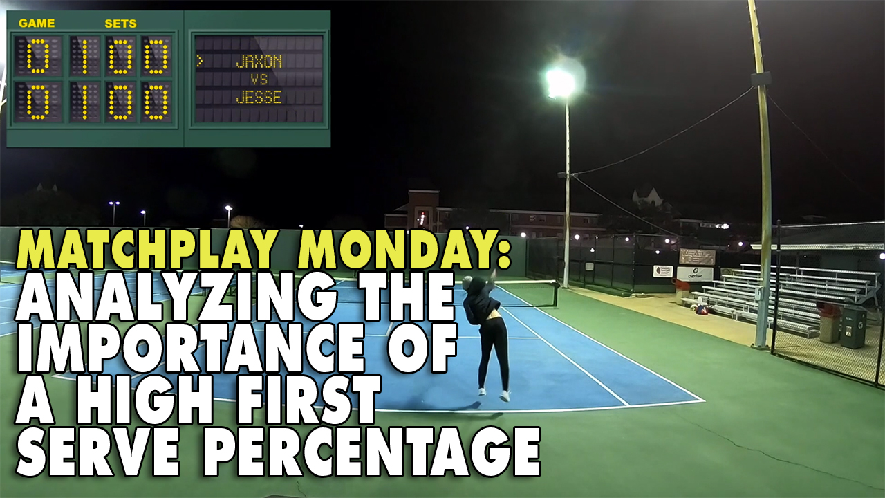 Matchplay Monday: Analyzing The Importance of a High First Serve Percentage