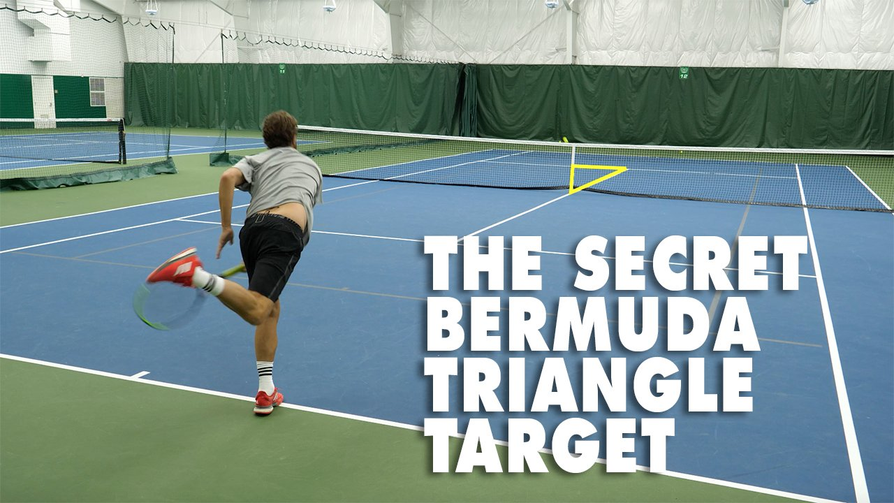 The Secret Bermuda Triangle Target - Where Tennis Serves, Never Return