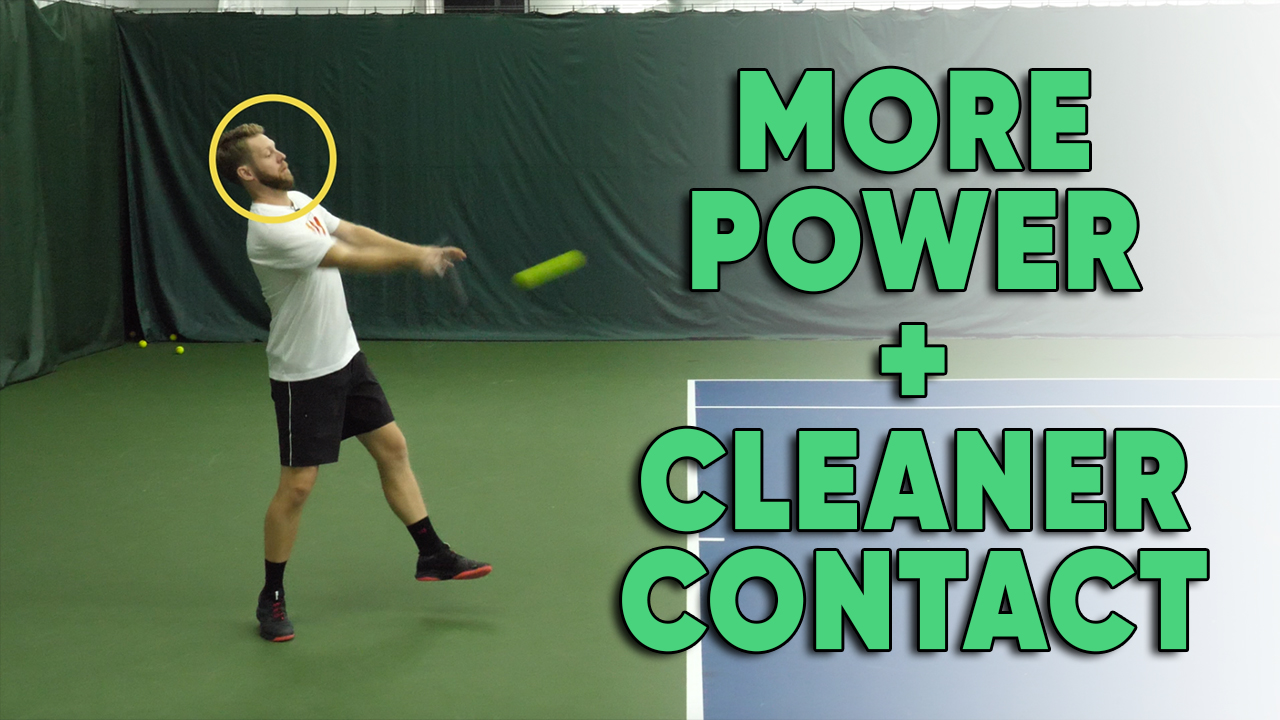How Your Chin Can Help You Hit More Powerful and Cleaner Forehands