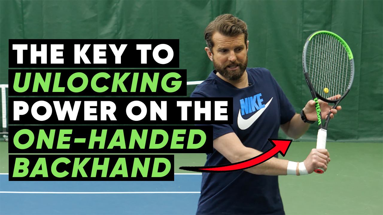 The Key to Unlocking Power on the One-Handed Backhand